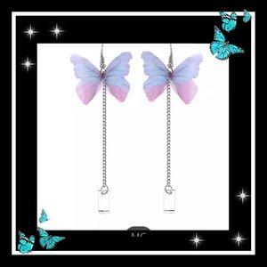 Jewelry - Delicate multicolor butterfly dangle earrings